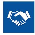 Customer Employee Handshake icon